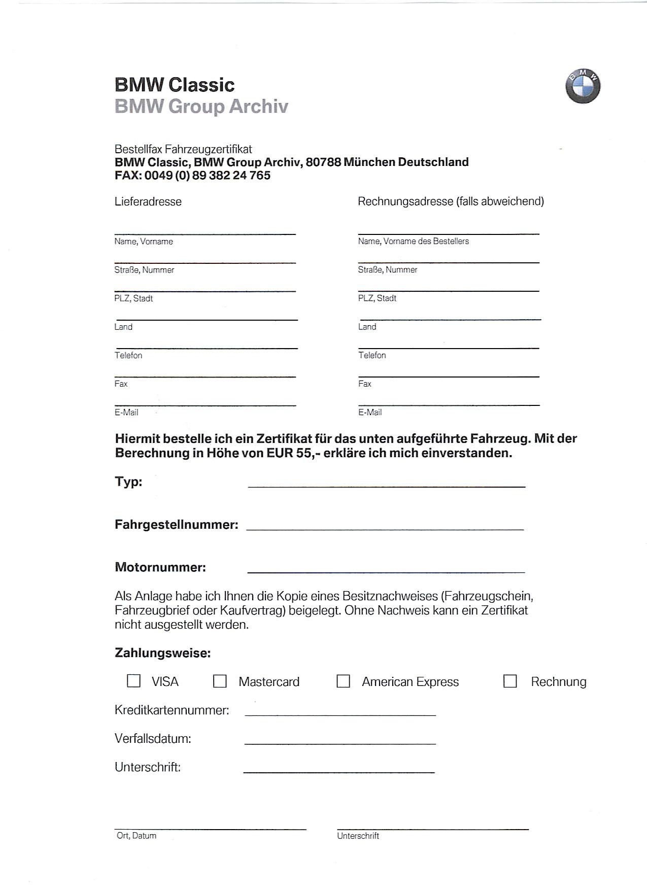BMW-Zertifikat